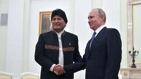 Los presidentes de Bolivia, Evo Morales, y de Rusia, Vladímir Putin. Moscú 11 de julio de 2019.