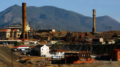 Una vista de Buenavista, la mina de cobre más grande de México, en Cananea, en el estado mexicano de Sonora, el 9 de junio de 2010.