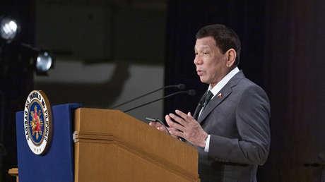 Rodrigo Duterte pronuncia un discurso en una conferencia internacional en Tokio, el 31 de mayo de 2019