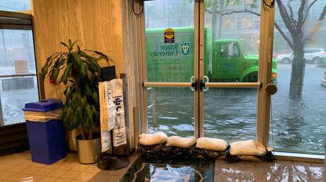 Un área inundada en Nueva Orleans, Luisiana, EE.UU., 11 de julio de 2019.