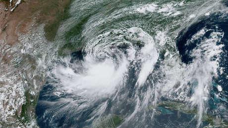La tormenta Barry se aproxima a Luisiana, el 12 de julio de 2019.