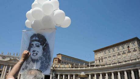 Una manifestación en Roma (Italia) pidiendo la verdad sobre el secuestro de Emanuela Orlandi, el 27 de mayo de 2012.
