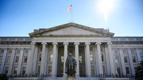 El edificio del Departamento del Tesoro de los EE.UU.