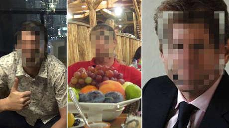 Fotografías de los presuntos espías de la CIA arrestados en Irán, publicadas por medios iraníes el 22 de julio de 2019.