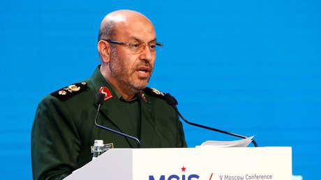 El ministro iraní de Defensa, Hosein Dehqán, en la Quinta Conferencia Internacional sobre Seguridad Internacional en Moscú, Rusia, el 27 de abril de 2016.