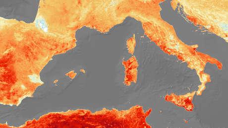 Mapa de temperatura de Europa obtenido por el satélite Copernicus Sentinel-3