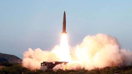 Prueba de misiles en Corea del Norte, el 25 de julio de 2019.