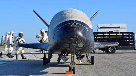 La nave espacial no tripulada X-37B.