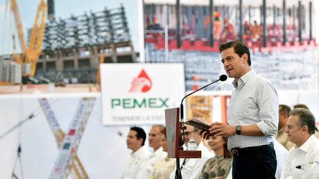 El expresidente Enrique Peña Nieto en la refinería de Miguel Hidalgo, Tula, 3 de noviembre de 2017.