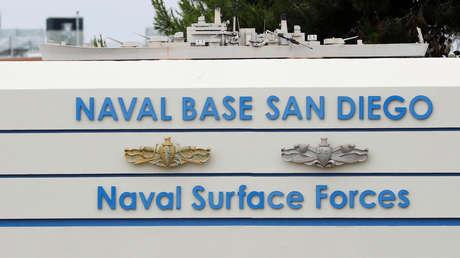 Ingreso a la Base Naval de San Diego en California (EE.UU.). 17 de junio de 2019.