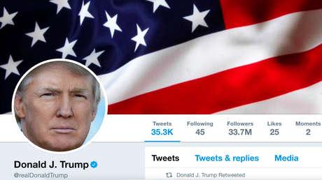 Pantallazo de la cuenta de Twitter de Donald Trump