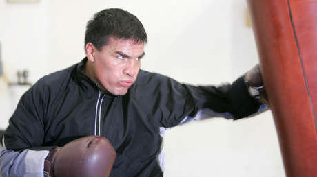 El excampeón de peso welter del CMB, Carlos Baldomir, de Argentina, en Las Vegas, Nevada, 31 de octubre de 2006.
