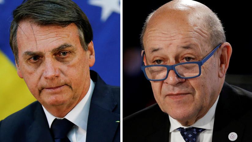 """La respuesta de Bolsonaro tras su plantón al canciller francés: """"¿qué vino a tratar con las ONG?"""""""