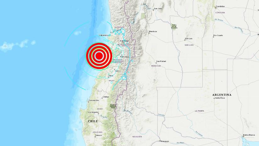 Registran un terremoto de 6,8 frente a las costas de Chile