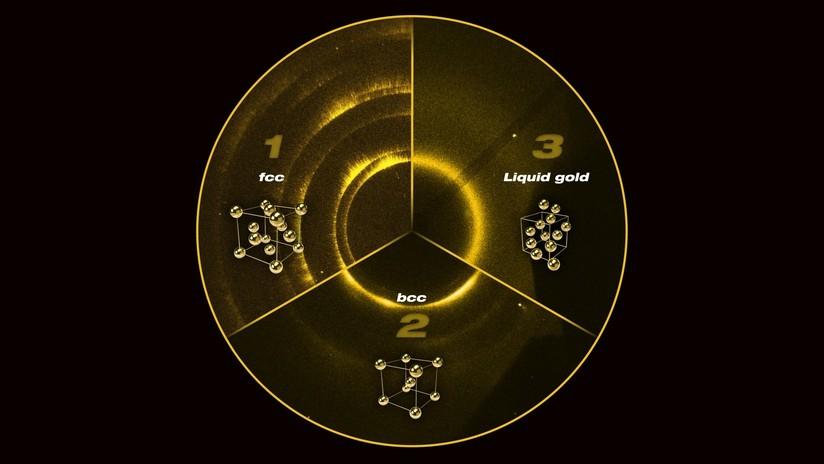 Descubren una nueva estructura cristalina del oro que solo existe bajo condiciones extremas