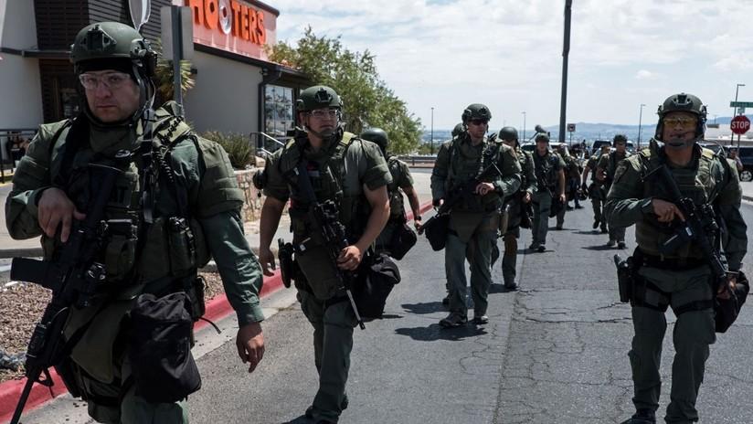 El despliegue policial para reducir al homicida de El Paso, en imágenes