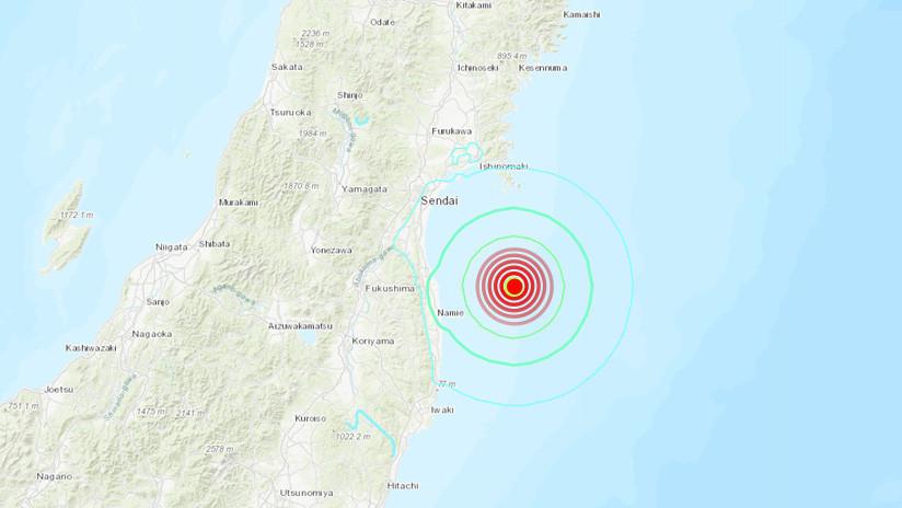 Un fuerte terremoto de magnitud 6,2 se registra cerca de Fukushima
