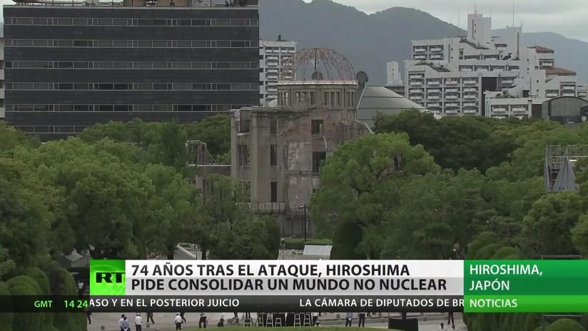 Japón conmemora el 74 aniversario del ataque nuclear a Hiroshima