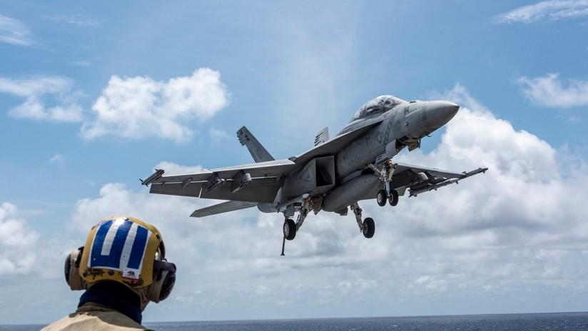 FOTOS: Publican imágenes de un portaviones de EE.UU. 'sacando músculo' en el mar de la China Meridional