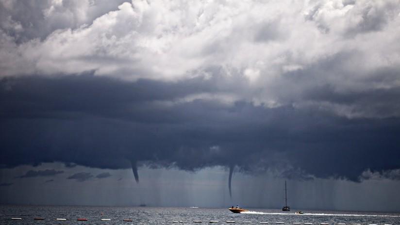 VIDEO: Graban un imponente tornado de agua en la ciudad rusa de Sochi