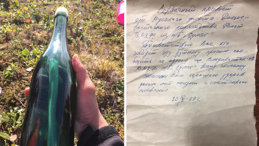 'Saludos desde la URSS': Hallan en Alaska un mensaje en una botella escrito en 1969