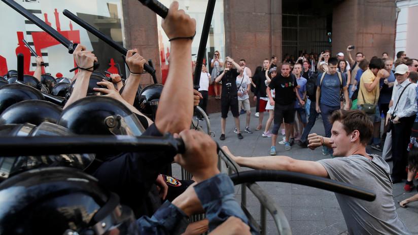 Rusia acusa a un medio alemán de alentar las protestas no autorizadas en Moscú