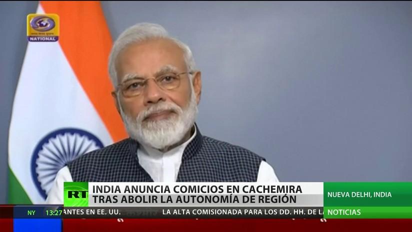 El primer ministro de la India anuncia elecciones en Cachemira
