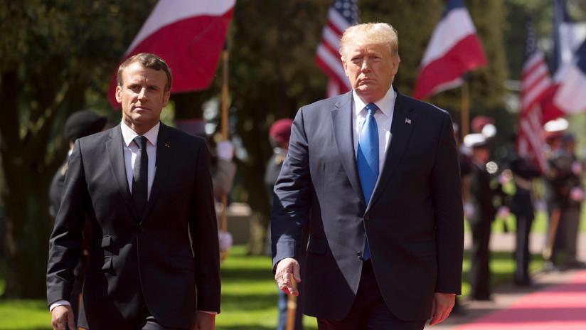 """Trump advierte a Macron: """"Nadie está autorizado a hablar con Irán en nombre de EE.UU."""""""