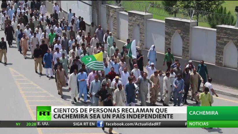 Cientos de manifestantes reclaman que Cachemira sea un país independiente