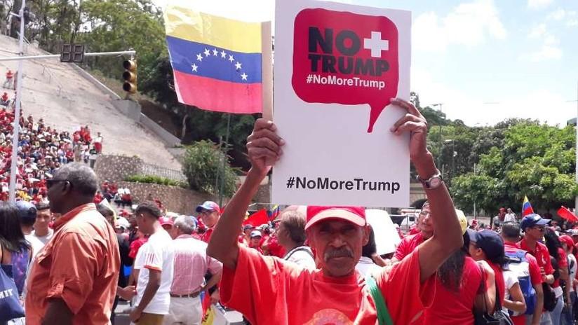 #NoMoreTrump: Venezolanos marchan en rechazo a las sanciones comerciales de EE.UU. (FOTOS)