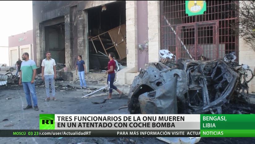 Mueren tres funcionarios de la ONU en un atentado con coche bomba en Libia