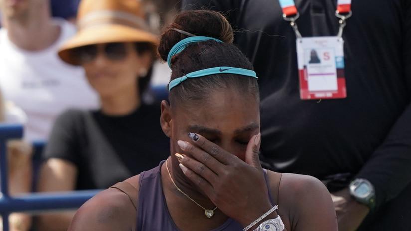 """""""No me puedo mover"""": Serena Williams rompe a llorar tras abandonar la final de la Copa Rogers debido a una lesión (VIDEO)"""