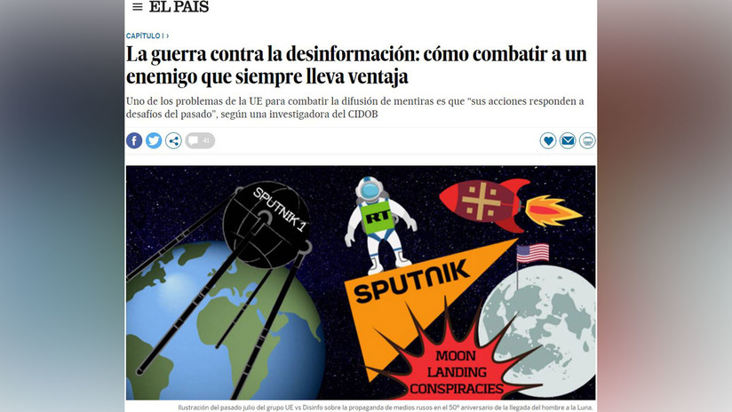 La prensa española desempolva la 'trama rusa' para mostrar la peculiar 'guerra contra la desinformación' de la Unión Europea