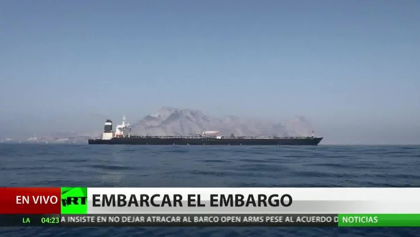 """EE.UU. amenaza con """"consecuencias"""" a los tripulantes del petrolero iraní liberado en Gibraltar"""