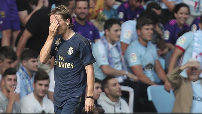 VIDEO: Luka Modric recibe la primera tarjeta roja de toda su carrera
