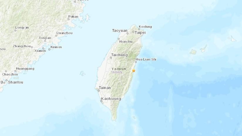 Un sismo de magnitud 5,0 sacude la isla de Taiwán