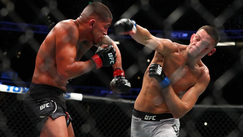 """El luchador de la UFC Nate Díaz derrota a Anthony Pettis después de tres años fuera del octágono y desafía al """"gángster"""" Masvidal"""