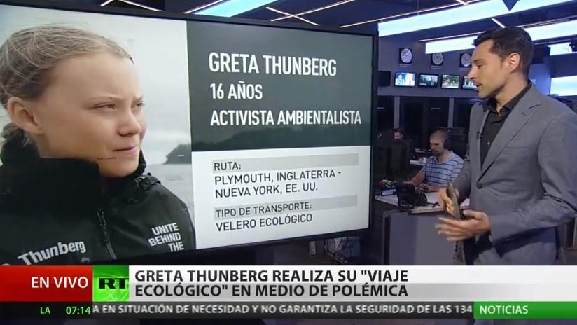La activista Greta Thunberg realiza su 'viaje ecológico' a Nueva York en medio de polémica