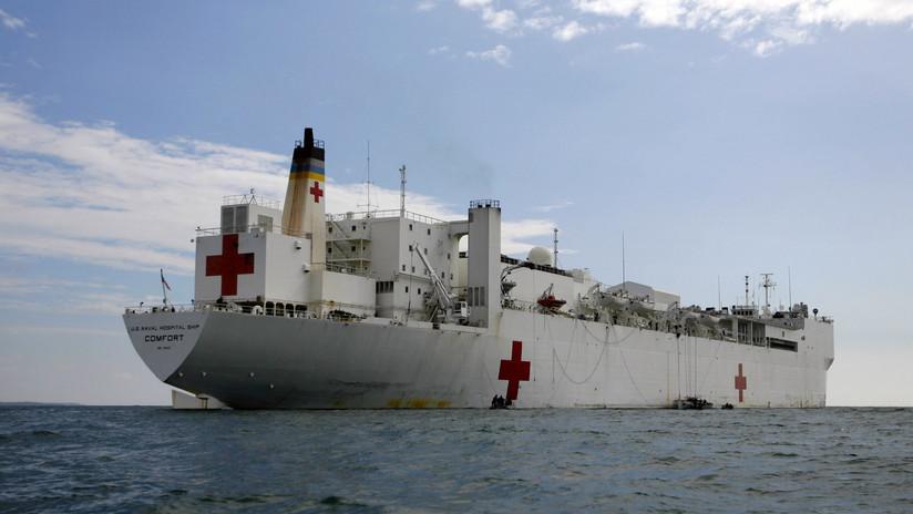 """Pompeo informa el arribo del buque-hospital a Colombia para dar """"ayuda humanitaria"""" a venezolanos"""