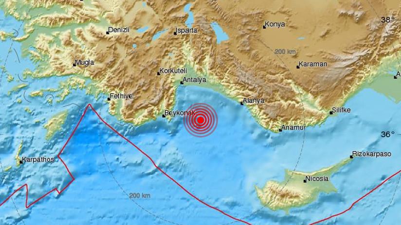 Un sismo de magnitud 4,6 sacude la costa suroriental de Turquía
