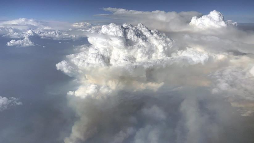 FOTO: Científicos vuelan a través de una 'nube de fuego' y captan el raro fenómeno