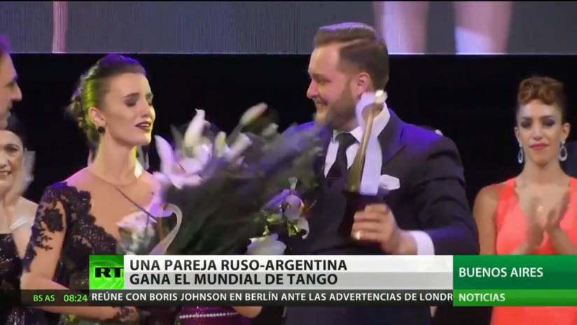 Una pareja ruso-argentina gana el campeonato mundial de tango en Argentina