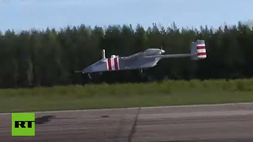 VIDEO: El dron militar ruso Forpost-R levanta el vuelo