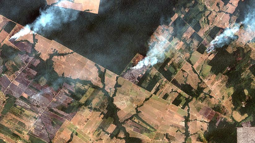 FOTOS: El antes y el después de la rápida propagación de los incendios forestales que arrasan la Amazonia