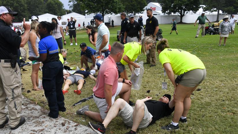 EE.UU.: Varias personas heridas al impactar un rayo contra un árbol durante un torneo de golf (VIDEO)
