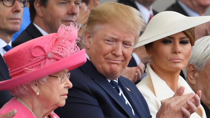 """Isabel II se quejó de que los helicópteros de Trump """"arruinaron"""" su césped en el palacio de Buckingham"""