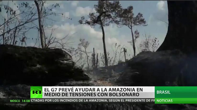 El G7 prevé ayudar a la Amazonia brasileña en medio de las tensiones con Bolsonaro