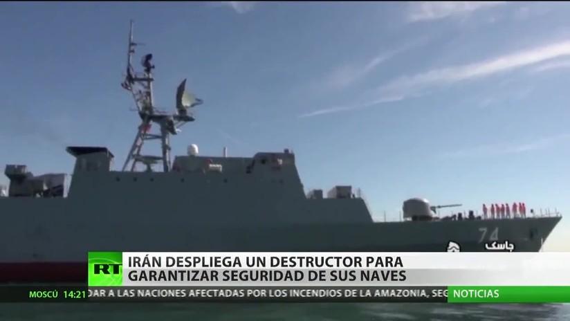 Irán despliega un destructor para garantizar la seguridad de sus naves