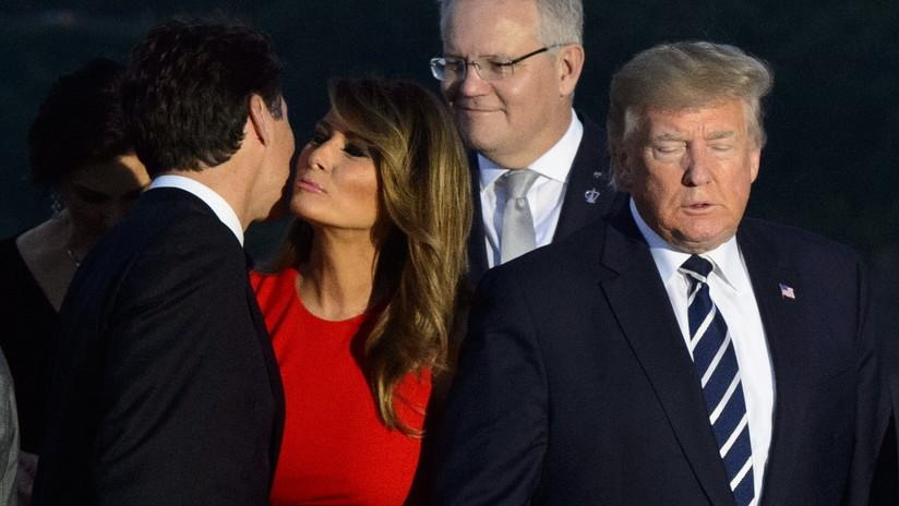 La 'tierna' mirada entre Melania Trump y Justin Trudeau se vuelve viral en la Red