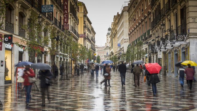 Resultado de imagen para Fuertes lluvias y granizo paralizan Madrid